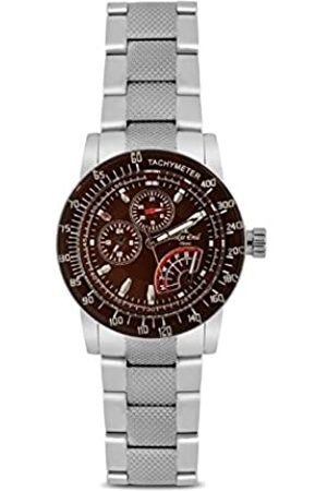 Oskar Emil Sports Men's Quartz Watch with Dial Analogue Display and Stainless Steel Bracelet Astro