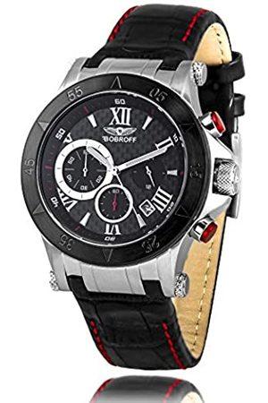 BOBROFF Mens Chronograph Quartz Watch with Leather Strap BF1001M41