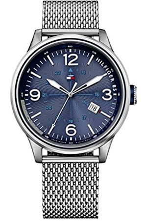 Tommy Hilfiger Peter Men's Quartz Watch with Dial Analogue Display and Silver Stainless Steel Bracelet 1791106