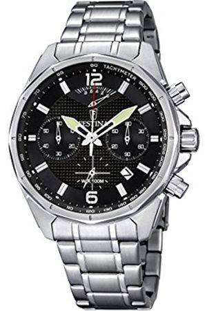Festina Men's Quartz Watch with Dial Chronograph Display and Stainless Steel Bracelet F6835/4