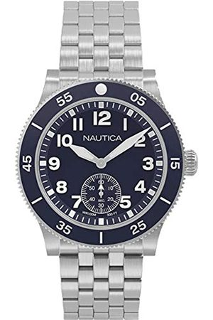 Nautica Mens Analogue Quartz Watch with Stainless Steel Strap NAPHST005
