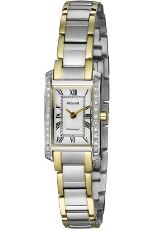 Accurist Women's Quartz Watch with White Dial Analogue Display and Multi-Colour Stainless Steel Bracelet Lb1589Rn