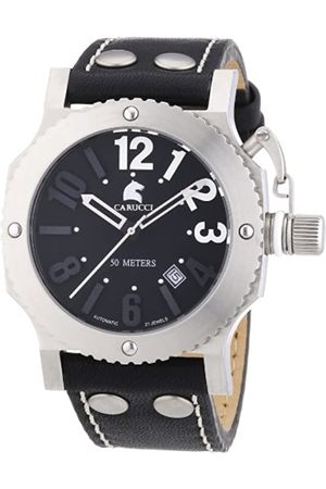 Carucci Watches Men's Automatic Watch Potenza II CA2210BK with Rubber Strap