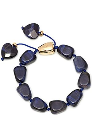 Lola Rose Regina Navy Tigers Eye Bracelet