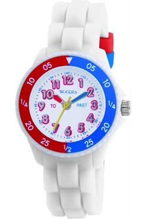 Tikkers Kids Time Teacher Rubber/Silicone Strap Watch TK0001