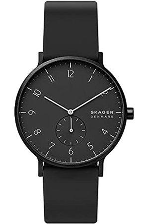 Skagen Mens Analogue Quartz Watch with Silicone Strap SKW6544