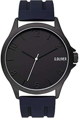 s.Oliver Mens Analogue Quartz Watch with Silicone Strap SO-3905-PQ