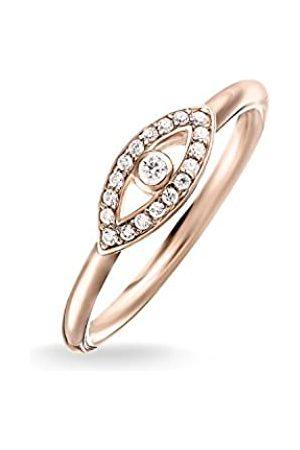 Thomas Sabo Women-Ring Glam & Soul 925 Sterling Silver 18k rose gold plating Zirconia white Sz. 54 (17.2) TR2075-416-14-54