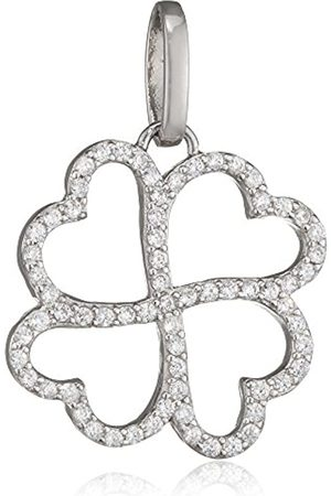 Pasionista Women's Pendant 925 Rhodium-Plated White Zirconia - 640273 Brilliant Cut