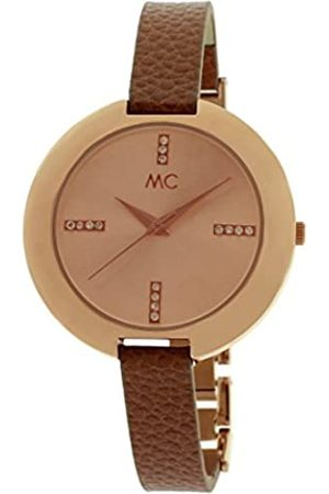 MC Women's Quartz Watch 51448 with Leather Strap