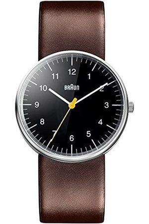 von Braun Mens Analogue Classic Quartz Watch with Leather Strap BN0021BKBRG