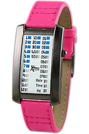 XTRESS Men's Binary Quartz Watch with Leather Strap XDA1030F