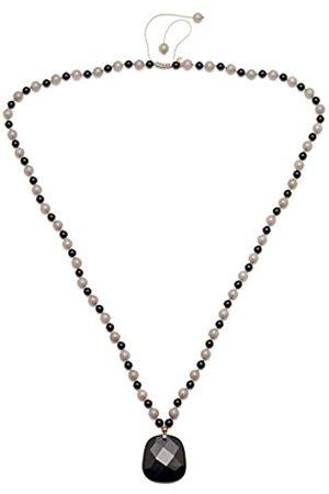 Lola Rose Colette Black Agate Moon Quartzite Necklace of 80 cm