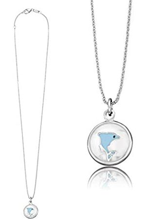 HERZENGEL Freedom Necklace with Pendant for Girls with Little Freedom 925-Sterling Rhodium Plated Length 37 cm plus 2 cm