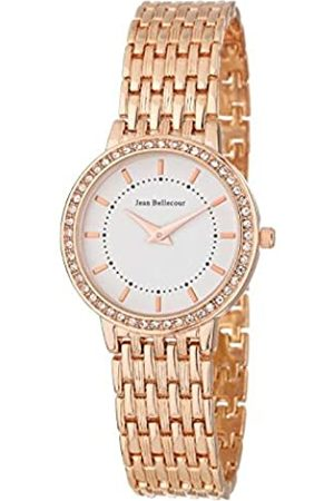 Jean Bellecour Womens Analogue Classic Quartz Watch with Stainless Steel Strap REDS15-RGW