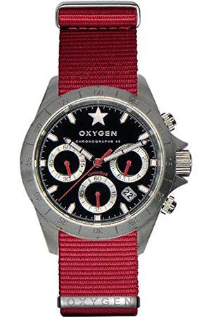 Oxygen Chrono Sprint 42 Mens Quartz Watch with Dial Chronograph Display and Nylon Strap EX-C-SPR-42-NN-RE