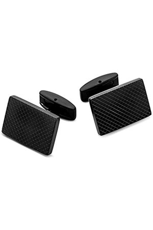 Miore Stainless Steel Re ctangular Cufflinks with Pattern
