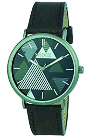 Snooz Men's Analogue Quartz Watch with Leather Strap Saa1041-68