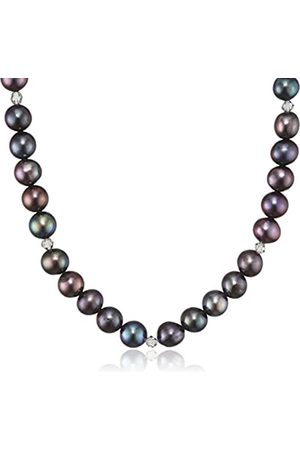 Sakura Pearl AM 334 A Ladies Necklace 925 Silver Rhodium Plated Crystal Grey Freshwater Cultured Pearl 45 cm –