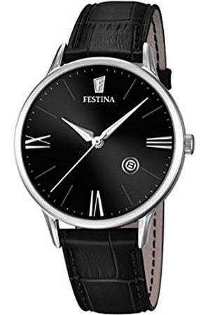 Festina Men's Quartz Watch with Dial Analogue Display and Leather Strap F16824/4