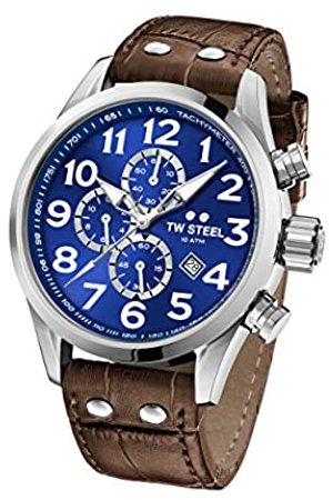 TW steel Unisex Adult Chronograph Quartz Watch with Leather Strap VS63