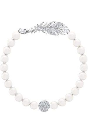 Swarovski Women's Rhodium Plated Crystal Nice Pearl Bracelet 5515020