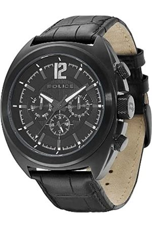 Police Gambler Men's Quartz Watch with Dial Analogue Display and Leather Strap PL.13403JSB/02