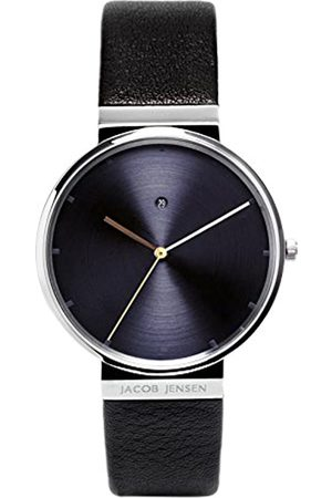 Jacob Jensen Men's Analogue Quartz Watch with Leather Strap 841