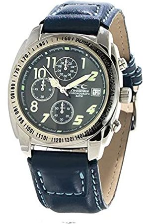 Chronotech Mens Chronograph Quartz Watch with Leather Strap CT7451-03