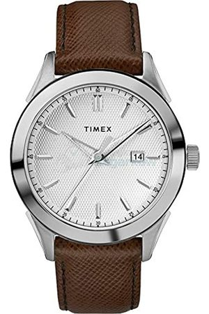 Timex Mens Analogue Classic Quartz Watch with Leather Strap TW2R90300