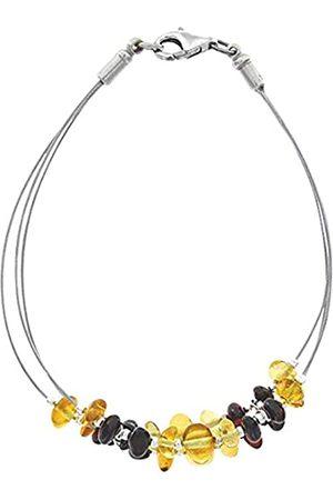 Nature d'Ambre 31812221 Multi-Strand Bracelet, 925 Sterling Silver, Amber