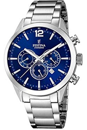 Festina Mens Chronograph Quartz Watch with Stainless Steel Strap F20343/7