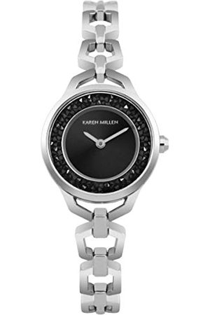 Karen Millen Unisex-Adult Analogue Classic Quartz Watch with Stainless Steel Strap KM171SM