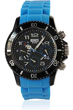 Munich Unisex Adult Analogue Quartz Watch with Silicone Strap MU+119.2A