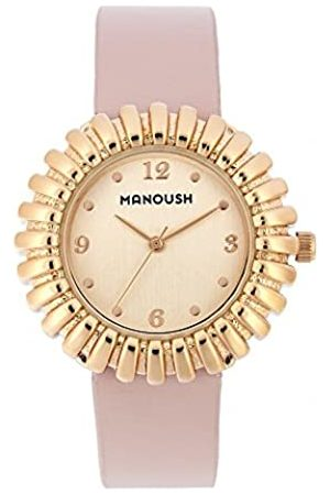 Manoush Unisex-Adult Analogue Classic Quartz Watch with PU Strap MSHMA01