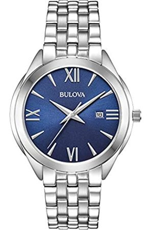 BULOVA Mens Analogue Analog Quartz Watch with Stainless Steel Strap 96B303