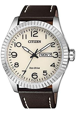 Citizen Mens Analogue Quartz Watch with Leather Strap BM8530-11XE