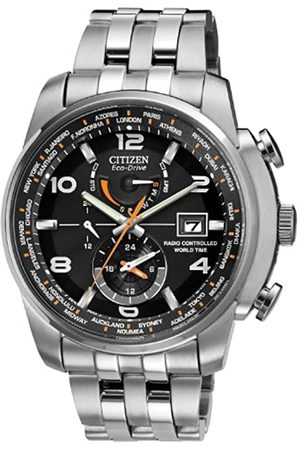 Citizen Mens Multi dial Solar Powered Watch with Stainless Steel Strap AT9010-52E