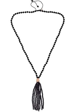 Lola Rose Bohemian Express Agate Blue Midnight Quartz Tumble Tassel Necklace of 48cm