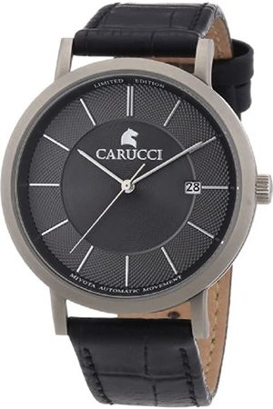 Carucci Watches Men's Automatic Watch CA2192GR with Leather Strap