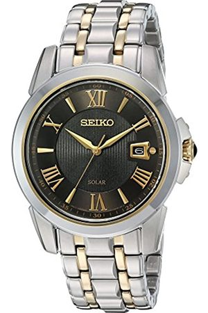 Seiko Men's SNE398 LGS Solar Analog Display Japanese Quartz Two Tone Watch