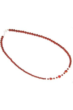 Earth Skinny Heart Necklace in Jasper of Length 46cm