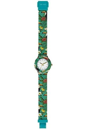 Hip HIP-HOP Ladys' Jungle Fever Watch Collection Mono-Colour White dial 3 Hands Quartz Movement and Silicon Printed Multicolor Strap HWU0784