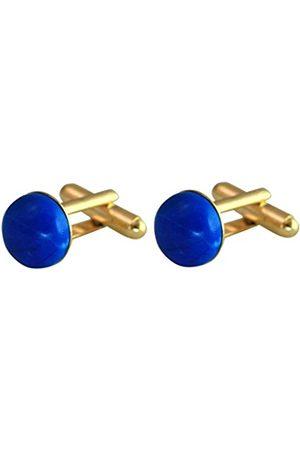 GemShine – Cufflinks – 18k gold plated – Amber – 16mm – Orange