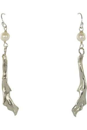 Jane Davis BCH 008 Freshwater Pearl and coral Earrings