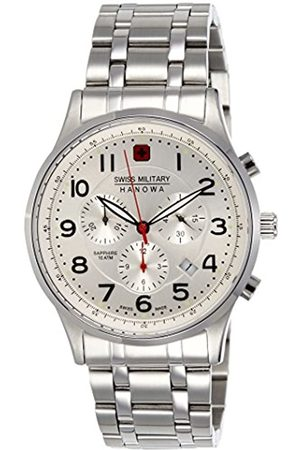 Swiss Military Hanowa Swiss Military Men's Quartz Watch with Dial Chronograph Display and Stainless Steel Bracelet 6-5187.04.001