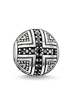 Thomas Sabo Women Men-Bead Hero Karma Beads 925 Sterling Silver blackened Zirconia K0030-051-11