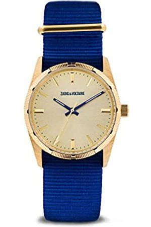 Zadig & Voltaire Unisex Watch Analogue Display and Nylon Strap ZVF213
