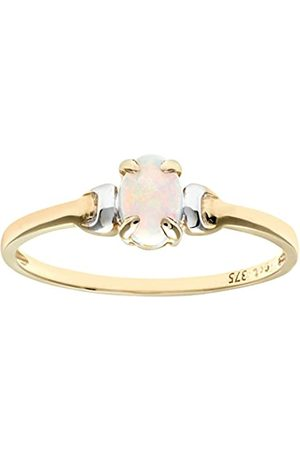 Citerna 9 ct and Opal Birth Stone Ring - Size N