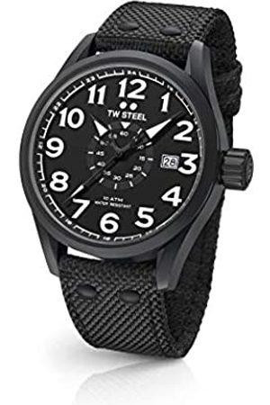 TW steel Unisex Adult Analogue Classic Quartz Watch with Textile Strap VS42